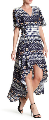 Jessica Simpson Amethyst Printed Hi-Lo Dress $79.50 thestylecure.com