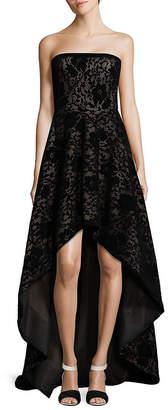 Tadashi Shoji Strapless Laced High-Low Gown