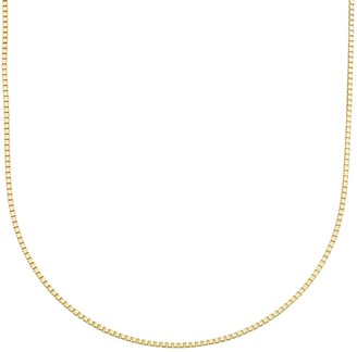 Primavera 24k Gold Over Silver Box Chain Necklace