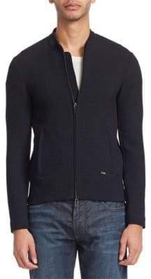 Emporio Armani Textured Knit Jacket