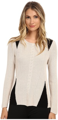 NIC+ZOE Stitched Knit Top $144 thestylecure.com
