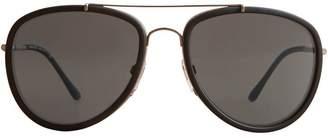 Burberry Check Detail Pilot Sunglasses
