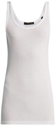 Atm - Scoop Neck Ribbed Tank Top - Womens - White