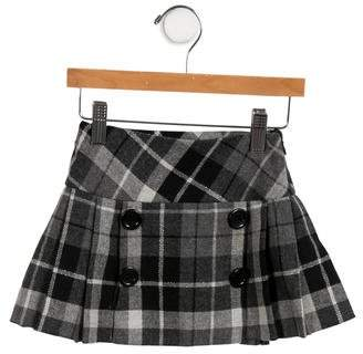 Il Gufo Girls' Pleated Wool Skirt