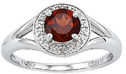 QVC Sterling Round Faceted Birthstone Ring