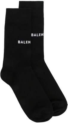 Balenciaga logo printed socks