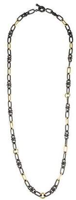 David Yurman Two-Tone Chain-Link Long Necklace