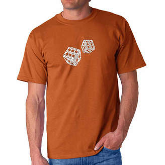 LOS ANGELES POP ART Los Angeles Pop Art Different Rolls Thrown in theGame of Craps Short Sleeve Word Art T-Shirt - Bigand Tall