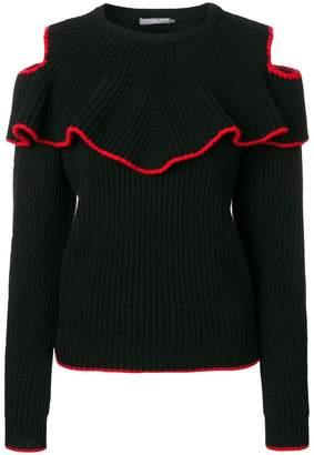 Alexander McQueen contrast trim knitted top
