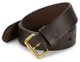 Cole Haan Beveled Edge Leather Belt