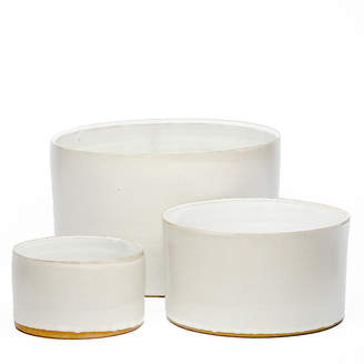Tracie Hervy Ceramics Hand-Thrown Ceramic Bowls (Set of 3)