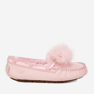 100dccc61 UGG Women's Dakota Moccasin Suede Slippers - Seashell Pink