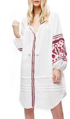 Women's Free People In The Clear Embroidered Tunic $168 thestylecure.com