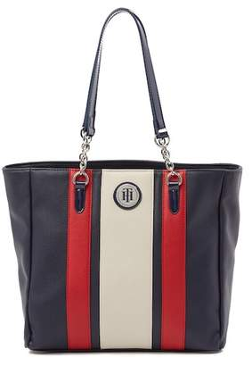 Tommy Hilfiger Agnes Faux Pebble Leather Tote