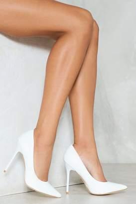 Nasty Gal High Strung Vegan Leather Heel