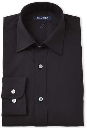 Nautica Black Classic Fit Solid Dress Shirt