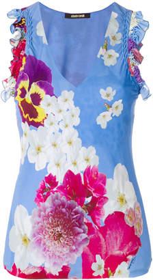 Roberto Cavalli floral print tank top