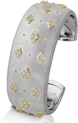 Buccellati Macri 18k White Gold Diamond Cuff