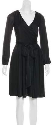 Halston Long Sleeve Knee-Length Dress