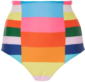 Mara Hoffman Rainbow Stripe Bikini Bottom $125 thestylecure.com