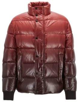BOSS Hugo Oversized-fit down jacket in ombre-effect water-repellent fabric 38R Dark Red