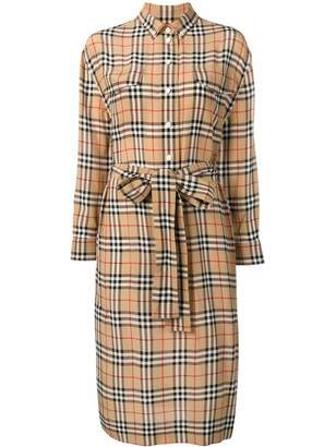 Burberry Vintage check tie-waist dress