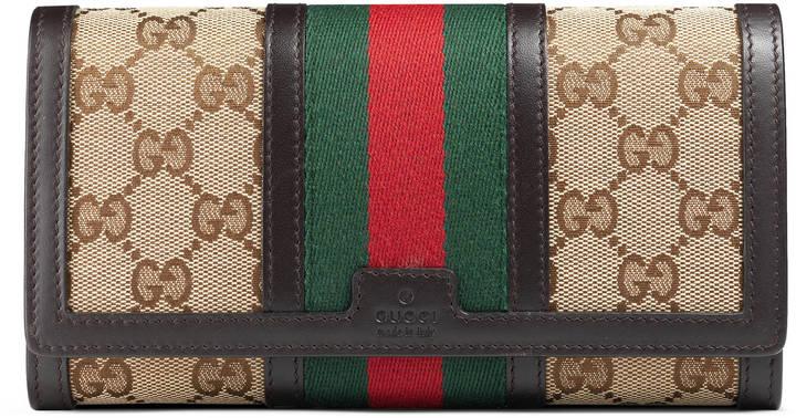 GucciVintage Web GG canvas wallet