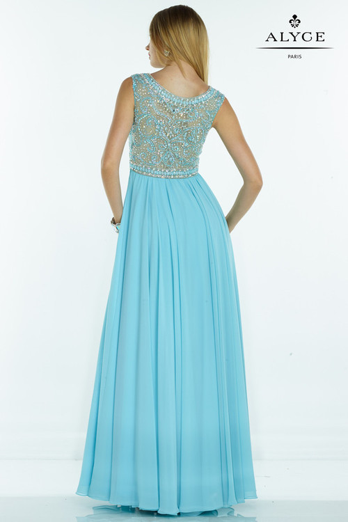 Alyce Paris - 1079 Dress in Turquoise Nude