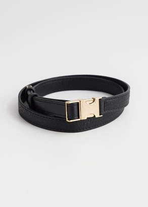 And other stories Metal Clasp Leather Belt