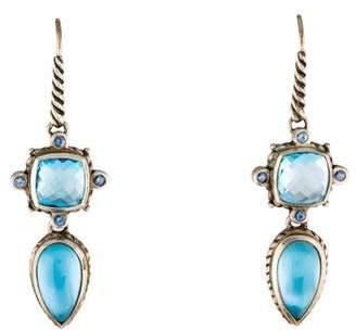 David Yurman Topaz & Sapphire Drop Earrings