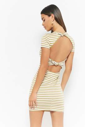 Forever 21 Cutout Striped Dress