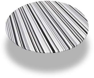 """Carnation Home Fashions Bohemian Stripe"""" 60 Inch Round Fitted Vinyl Tablecloth"""