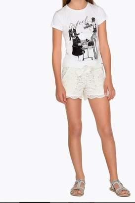 Mayoral Lace Shorts White