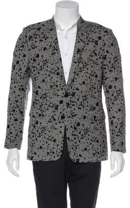 Christian Dior Virgin Wool Jacquard Patterned Houndstooth Blazer