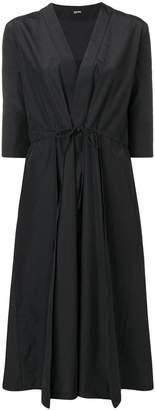 Jil Sander Navy tied waist midi dress
