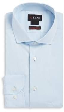 Slim-Fit Cutaway-Collar Dress Shirt
