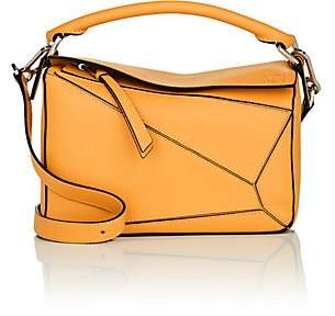 Loewe Women's Puzzle Small Leather Shoulder Bag - Yellow
