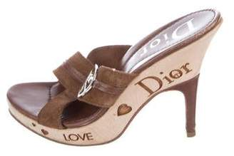 Christian Dior Crossover Logo Sandals
