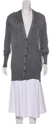 Tory Burch Long /Sleeve Metallic Cardigan