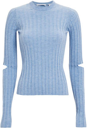 Helmut Lang Slashed Sleeve Knit Top