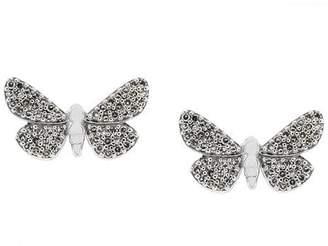 Astley Clarke 14kt gold Cinnabar Papillon diamond earrings