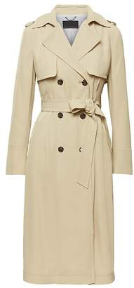 Banana Republic Soft Pleated Long Trench Coat