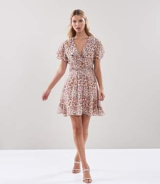Reiss Aime Floral Printed Tea Dress