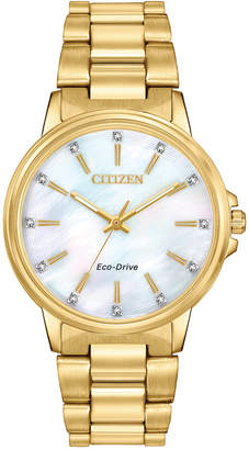 Citizen Drive From Eco-Drive Women Chandler Gold-Tone Stainless Steel Bracelet Watch 37mm