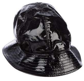 Pre-Owned at TheRealReal · Chanel Patent Leather Bucket Hat b6c7aadead9