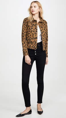 L'Agence Celine Spot Animal Print Jacket