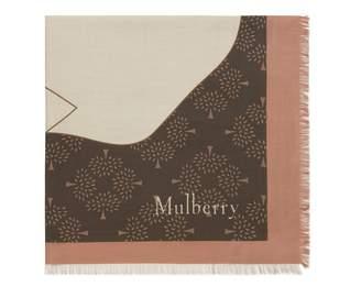 Mulberry Magnolia Square Dark Clay Silk Viscose