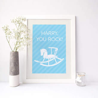 PaperPaper 'You Rock' Personalised Baby Name Print