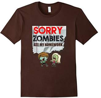 Funny Sorry Zombies Ate My Homework T-shirt School Student