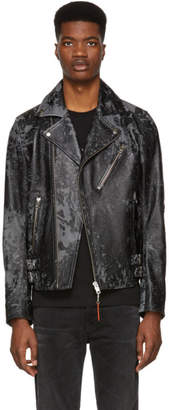 Diesel Black Leather L-Krampis-A Jacket